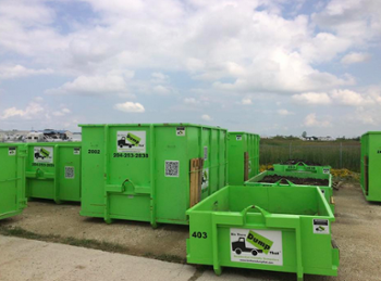 BTDT dumpster rentals range from 9 to 12 feet long and 5 1/2 to 8 feet wide, with 20-yard bins also available for large projects