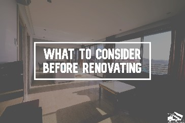 what to consider before renovating