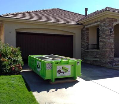4 Yard Dumpster in Driveway